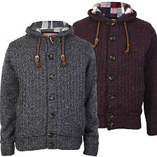 Unbranded Men's Hooded Button-Front Jumpers & Cardigans