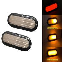 2x Led Truck Brake Tail Light Flowing Turn Signal Lamp SUV RV Trailer Universal