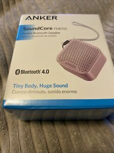 ANKER SOUNDCORE NANO POCKET BLUETOOTH 4.0 PORTABLE SPEAKER (PINK) A3104 NEW