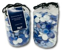 NWT Pier 1 Decorative Gem Mix Blue and White Decorative Vase Filler 2.62 lbs x 2