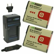 Wasabi Power Battery (2-Pack) and Charger for Sony NP-BG1