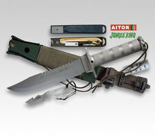 "AITOR JUNGLE KING II SURVIVAL ARMY RESCUE FIX 8"" BLADE KNIFE / GREY ** NEW **"