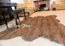 3' x 5' Mini Grizzly Original Bear Faux Fur Bearskin  Mountain Bear Designer Rug
