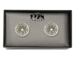 1928 Jewelry Crystal Round Cufflinks