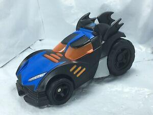 DC Comics Batman Revving Engine Batmobile Vehicle Car 2009 Black & Blue FS EUC