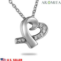 Diamond Heart Cremation Jewelry Ashes keepsake Memorial Urn Holder Necklace-New