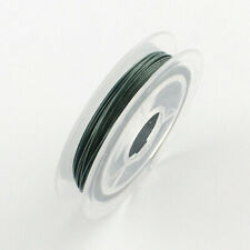 1 x 10m Steel TEAL GREEN Tiger Tail Beading Wire 0.45mm Craft Jewellery Making