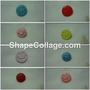 Buttons, novelty, smiley faces. 6, 8 or 10