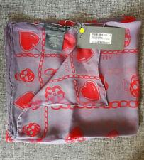 BNWT Alexander McQueen lilac silk charms scarf