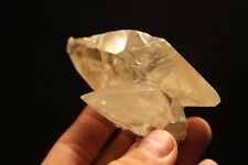 Super Gemmy and Lustrous Calcite Twin from the Elmwood Mine, Carthage, Tennessee