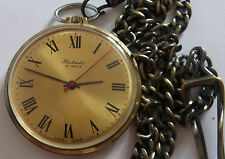 RARE RAKETA  23j Gold Plated Au10 Soviet Watch Russian POCKET  Watch