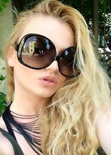 70's Vintare RETRO Oversized XXL Huge Big Lenses Women Black Frame Sunglasses