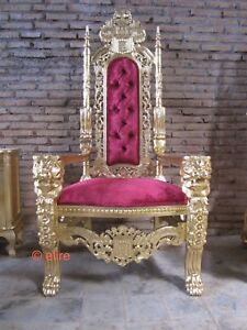BESPOKE 178cm Large size Gold  Lion King Throne Chair for wedding christmas