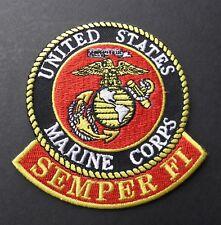 USMC MARINES MARINE VETERAN SEMPER FI EMBROIDERED PATCH 3.5 X 3 INCHES