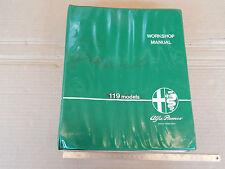 MANUALE ORIGINALE 1985 ALFA ROMEO 33 4X4 E GIARDINETTA E CONDIZIONATORE