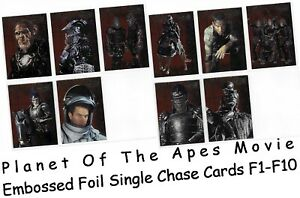 """Planet Of The Apes Movie - F1-F10 """"Embossed Foil"""" Single Chase Card Selection"""