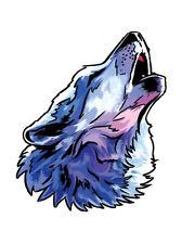 25 Howling Wolf Temporary Tattoo, School Mascot Cheerleader Face Tats