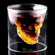 Crystal Glass Vodka Whiskey Skull Head Shot Cup Drinking Ware Home Bar beer