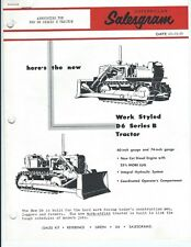 Equipment Brochure Salesgram - Caterpillar - D6 Series B - 1959 (E4431)