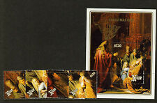 """Niue 573-7 MNH Christmas, Art, Painting, """"Presentation in the Temple"""""""