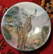 The Tain Pottery Monarch of the Glen Stag Footed Dish Scottish Comport Compote