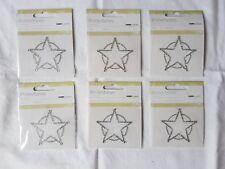 Rhinestones (Sheriff's Stars) Self Adhesive -PACK OF 6-