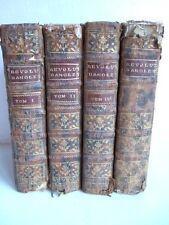 PERE D'ORLEANS HISTOIRE DES REVOLUTIONS D'ANGLETERRE 4 TOMES - GIFFART 1750