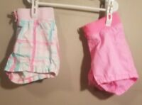Jumping Beans Girls Shorts (2 Pair) Size 5 One Pink and one Plaid