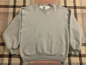 Vtg Russell Athletic Sweatshirt Size L Gray Made in USA!!!