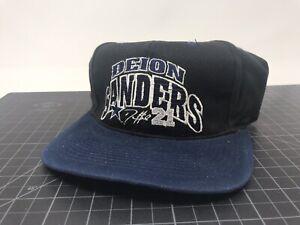Vintage Deion Sanders Dallas Cowboys Snapback Hat Baseball Cap Quarterback Club