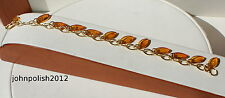 Cute Baltic Amber Bracelet  with Gold Plated Silver 925