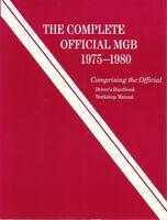 MGB SHOP MANUAL SERVICE REPAIR BOOK MG B COMPLETE OFFICIAL ROBERT BENTLEY 75-80
