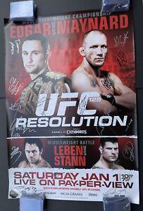 Official UFC 125 Frankie Edgar Autographed Event Poster, SBC, UFC