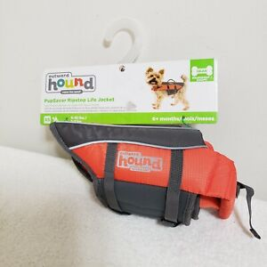 Dog Life Jacket Orange with Rescue Handle Outward Hound Ripstop Pupsaver XS