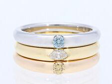 tricolor Ring 0,35 Karat Diamant Brillanten 750 Gold 950 Platin