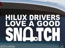 HILUX 4X4 DECAL for toyota funny recovery snatch sticker 200mm