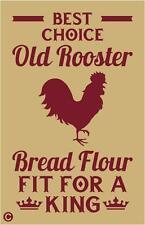 Primitive STENCIL OLD ROOSTER BREAD FLOUR Vintage Advertising Home Decor Kitchen