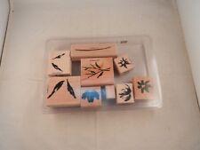 "Stampin' Up! ""New"" Set Of 9 Stamps 2002 - Watercolor Garden Ii"
