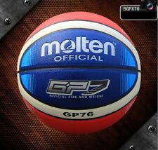 Molten Size7 Pu Leather Basketball Sports Game Palying ball Training Ball W/bag