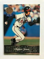 1993 Leaf CHIPPER JONES Atlanta Braves Gold Rookies Baseball Insert Card #19