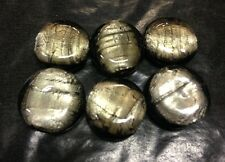 Silver Foil Glass Beads lampwork 10 or 12mm John Lewis puff coin round PREMIUM