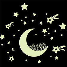 Moon Castle Luminous Wall Sticker Glow In The Dark Baby Kids Home room Decal