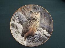 Eagle Owl collector plate Mountain Vigil Trevor Boyer Owls Danbury Mint