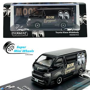 Tarmac Works 1:64 Toyota Hiace Widebody Mooneyes (Black) - 2021 HOBBY64