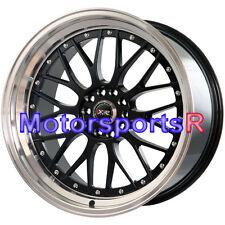 XXR 521 20 x 8.5 10 Black Machine Deep Step Lip Staggered Rims Wheels 5x114.3