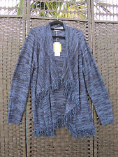 TS 14+ Virtuelle Stardust Knit Cardigan Blue Metallic M 18 20 BNWT $119.95