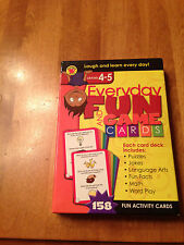 Everyday Fun and Game Cards Grades Grades 4 to 5