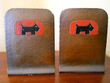 RARE ANTIQUE ARTS & CRAFTS SIGNED CRAFTMAN STUDIOS SCOTTIE DOG COPPER BOOKENDS