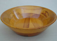 "Baribocraft Serving Salad Bowl 12"" Light Maple Wood c1960s 70s Cone Shape Canada"