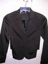 ANNA MOLINARI Ladies Black Fitted Jacket Blazer 42 / 8 NWT $1000+ Ret